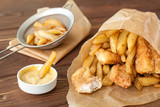 Fish and chips fast food - 81190695