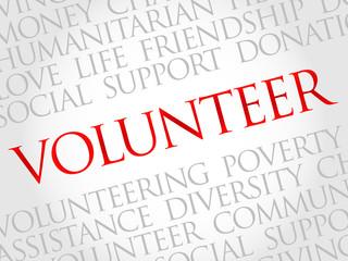 Volunteer word cloud concept