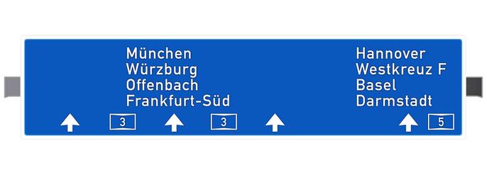 Autobahntafelauf A3