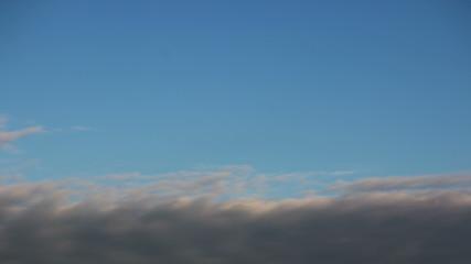 Blue sky with storm clouds closeup