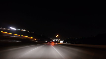 Night Highway Time Lapse