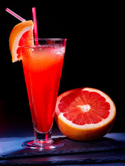Grapefruit cocktail with straw 33