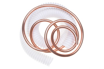Corrugated pipe with copper wire