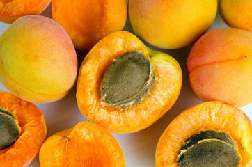 a lot of ripe apricots