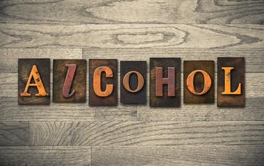 Alcohol Wooden Letterpress Theme