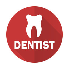 dentist red flat icon