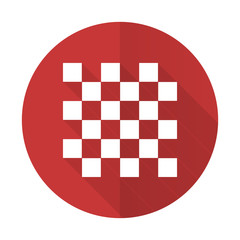chess red flat icon