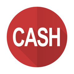 cash red flat icon