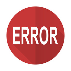 error red flat icon