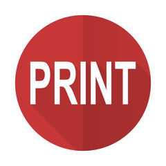 print red flat icon