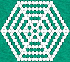 Hexagonal crossword