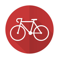 bicycle red flat icon bike sign