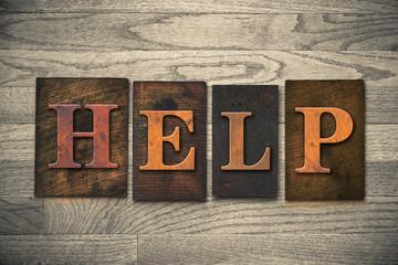 Help Wooden Letterpress Theme
