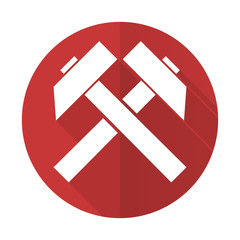 mining red flat icon