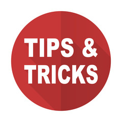 tips tricks red flat icon