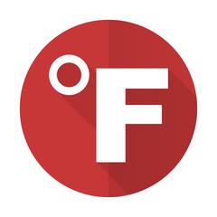fahrenheit red flat icon temperature unit sign