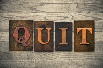 Quit Wooden Letterpress Theme