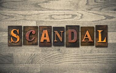 Scandal Wooden Letterpress Theme