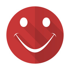smile red flat icon