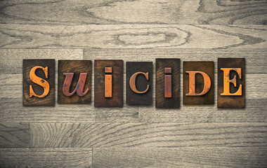 Suicide Wooden Letterpress Theme