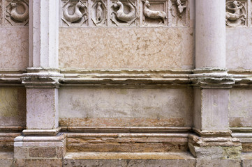 Parma: the Baptistery detail. Color image