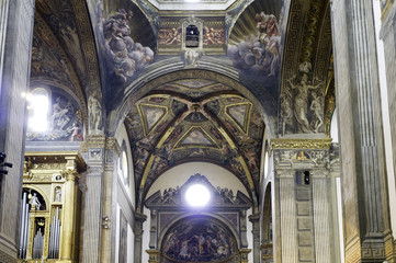 Parma, the Cathedral, internal view. Color image