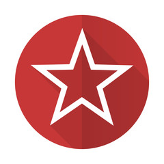 star red flat icon