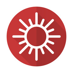 sun red flat icon waether forecast sign
