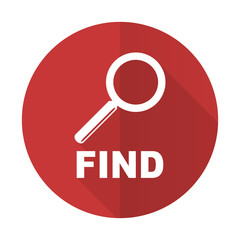 find red flat icon