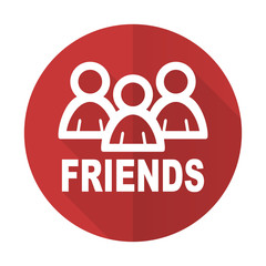 friends red flat icon