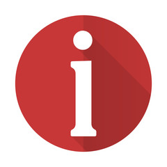 information red flat icon