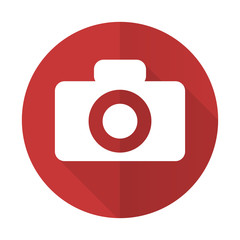 camera red flat icon