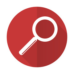 search red flat icon