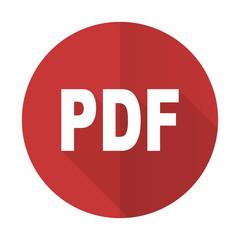 pdf red flat icon