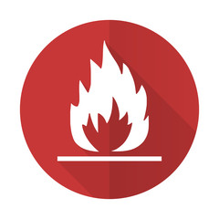 flame red flat icon