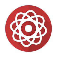 atom red flat icon