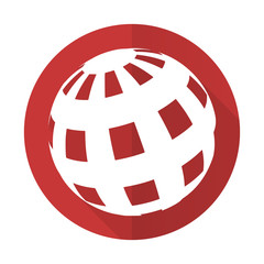 earth red flat icon