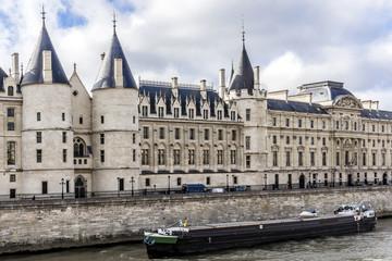 Castle Conciergerie - former royal palace and prison. Paris.