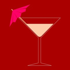 Martini Glass - Illustration