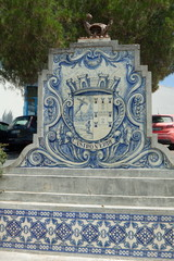 This fountain made of tiles is typically portuguese.