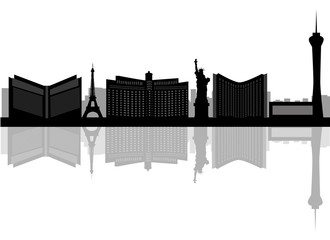 March 21, 2015: Illustration of silhouette of the city of Las Ve