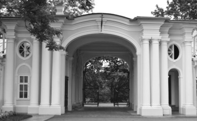 Gate of Big Menshikovsky palace in Oranienbaum.