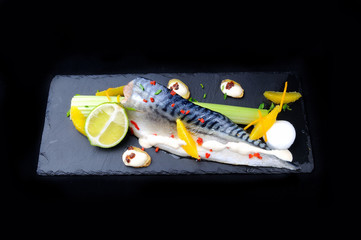 mackrel with lime and sauce