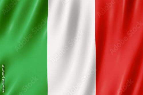 Leinwanddruck Bild Flag of Italy