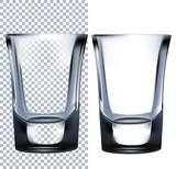 Shot glass. Isolated On White Background.