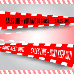 comic red caution line for sales