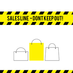Comic caution line for sales
