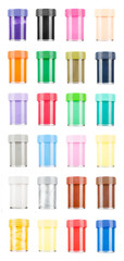 colorful paints isolated on white