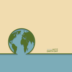 Vector modern april 22 earth day background.