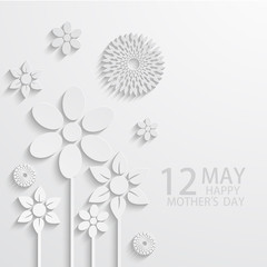 Vector modern 12 may mothers day background.